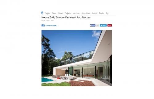 House Z-M gepubliceerd op Archdaily